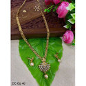 Golden Gold Polish Pearl Haram Necklace Sets