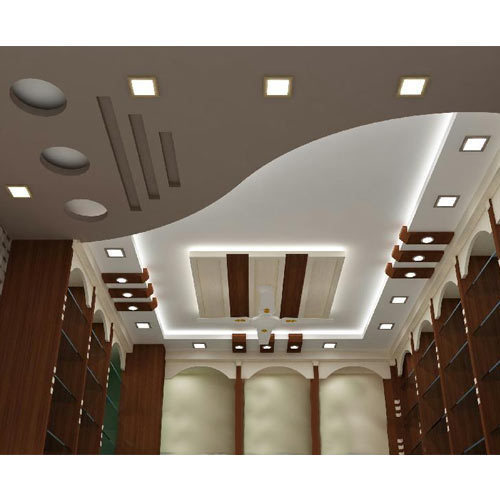 Roof Ceiling Design Bedroom In Pakistan Brown Bedroom Curtain Ideas Black And White Bedroom Designs Room Colour Ideas Bedroom: Durable Coating POP False Ceiling, Rs 350 /square Feet