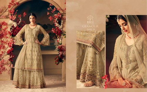 Mix Georgette Ladies Stylish Designer Salwar Suit