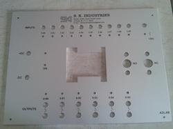 Control Panel Front Labels