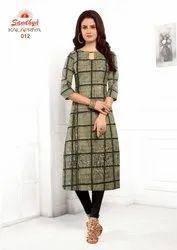 Straight Casual Wear Cotton Kurti Sandhya Kalapriya