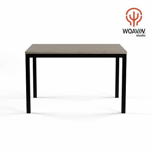 Woavin Commercial Durable Clic Metal Legs With Rectangle Wooden Top Dining Table