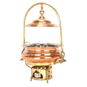 Copper Chafing Dish Round With Stand (Copper)