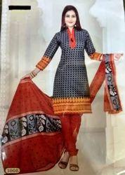 Cotton Printed Salwar Suit Set
