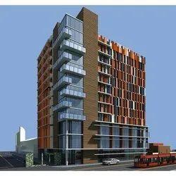 Multicolor Commercial Building Construction Service