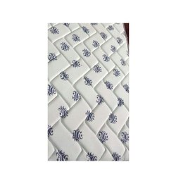 Off White Printed Knitted Quilted Fabric