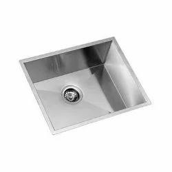 Single Silver Kaff SS Kitchen Sink, Thickness: 2 Mm