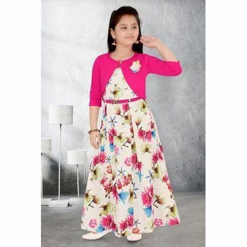 08270632a154 Wedding And Party Wear. Chiffon Girls Fancy Gown