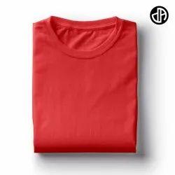 Plain Red 180 Gsm Cotton T Shirt