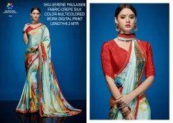 Rachna Crepe Silk Digital Printed Serene Paula Catalog Saree For Women 8