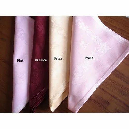 Plain Cotton Dobby Design Napkin