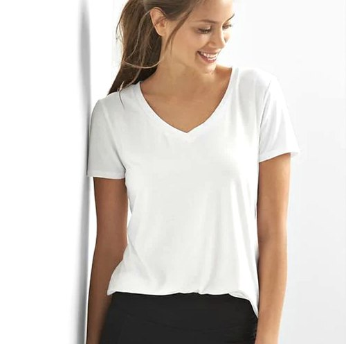 7aa824b88 Half Sleeves Branded Surplus Women Plain White T-Shirt, Rs 70 /piece ...