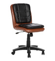 Workstation Chesnut and Black Chair