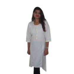 Cotton And Cotton Cambric Casual Wear Ladies Designer Stylish Kurti, Hand Wash,Machine Wash, Size: Available In S To XXXL