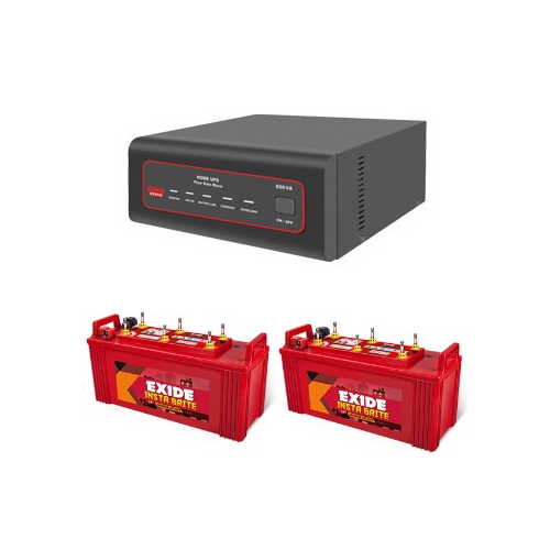 Exide 1450VA Sinewave Inverter And Exide Insta Brite IB1500 150 Ah Battery
