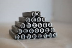 Metal Alphabet Stamp