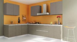 Cinnamon L Shaped Kitchen Interior Designing Services In Chhapra