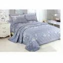 Blue Cotton Double Bed Sheet
