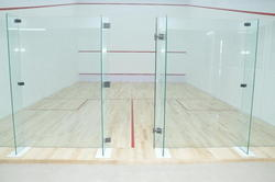 Squash Courts Back Wall Glass