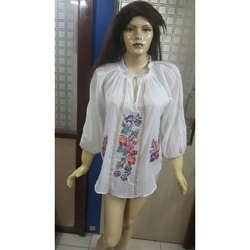 White Embroidered Ladies Dress