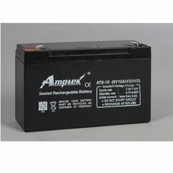Amptek SMF Industrial Battery, Model: AT6-10