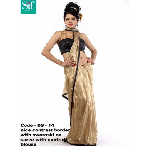 Silk & Satin Designer Party Wear Saree
