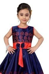 839820b2b0f 4 To 15 Year Girls Pink And Copper Silk Party Wear Dresses