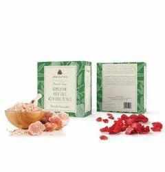 Aro Vatika Best Quality Himalayan Rock Salt with Rose Petals Organic Soap, 100g