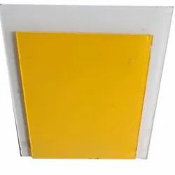Yellow Lacquered Glass, For Wardrobes, Thickness: 5-10 Mm