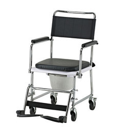 Fixed Frame Commode Chair With Small Wheel
