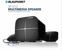 40w Blaupunkt SP212 Bluetooth Home Audio Multimedia 2.1 Speaker (Black), Size: 15.5 X 15.5 X 22.5 Cm