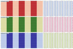 PC Stripe Cuff and Collar Shirting Fabric