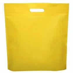 Plain Yellow D Cut Bag Non Woven Shopping Bag