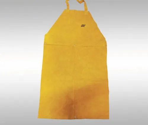 Fox Yellow Leather Apron for Industrial, Size: Free