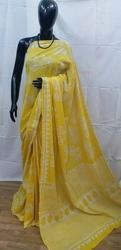 Dabu Printed Soft Cotton Saree
