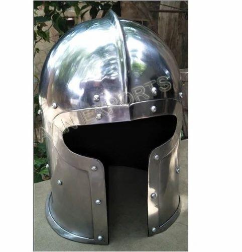 Mild Steel Barbute Helmet, AAN Exports | ID: 18427751912