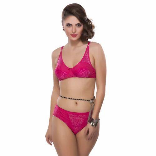 19bbcc8307dfc Ladies Designer Pink Bra Set