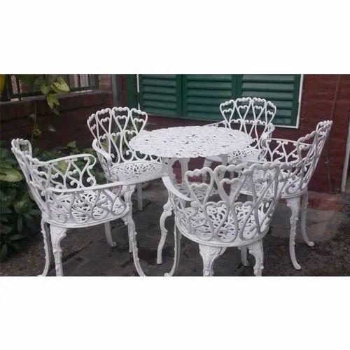 Modern Cast Iron Garden Table Chair