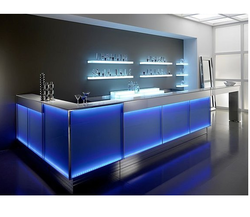 Blue Bar Counter, Rs 95000 /unit, Gas In Enterprises | ID: 12590669397