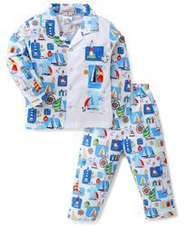 Ollypop Cotton Hosiery Kids Full Sleeves Night Suit