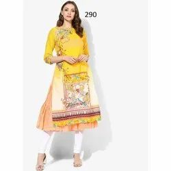 Ladies Fancy Digital Printed Crepe Kurti