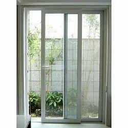 White Aluminum Glass Sliding Door