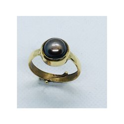 Black Pearl Kala Moti Ring