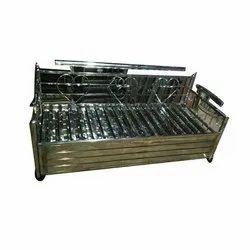 5*6 Feet Stainless Steel Sofa Cum Bed