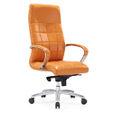 High Back Orange Boss Chair