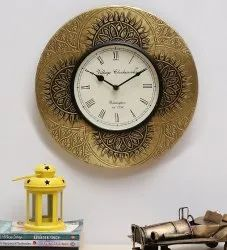 KAPTOWN GOLDEN Wooden Designer Wall Clock, For Home And OffIce