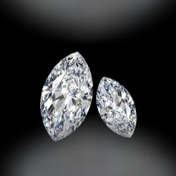 DEF VVS  Full White Marquise Moissanite Diamond