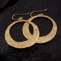 Women Dangle New Design Gold Plated Handmade Brass Round Earring