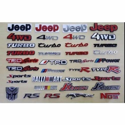 Metal Car Fender Badge Sticker Emblem Logo