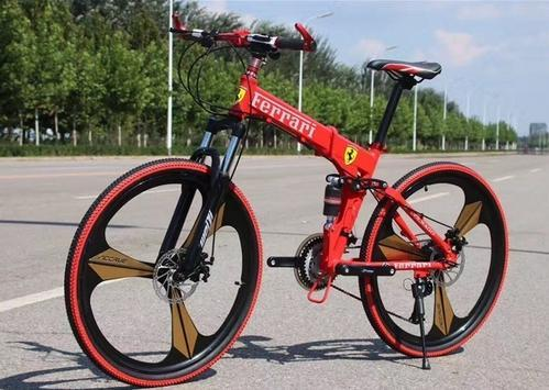 Ferrari Red Sports Bicycle Model Folding Cycle Size 26 Inches Rs 15500 Piece Id 18143282455